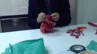 การผลิตดอกกุหลาบจากถุงพลาสติก (flower from plastic )
