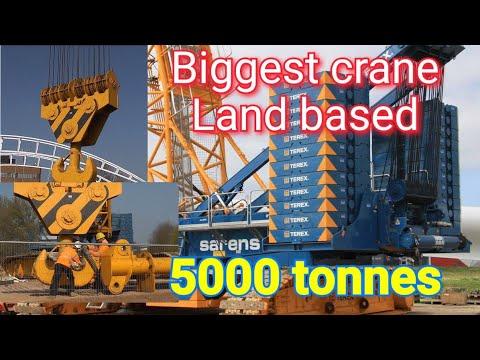5000 tonnes # Biggest land based crane