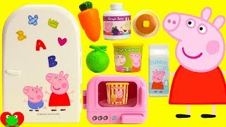 Best Learning Video Learn Foods with Peppa Pig Hungry Mini Kitchen Refrigerator Surprises