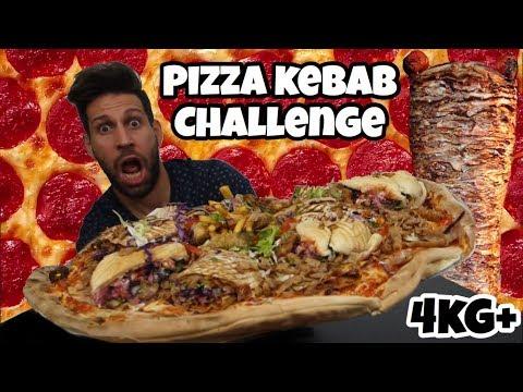 PIZZA KEBAB Challenge 4KG+ - Italiano Cheat day - MAN VS FOOD (ENG SUB)