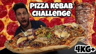 PIZZA KEBAB Challenge 4KG+ - Italiano Cheat day - MAN VS FOOD (ENG SUB)