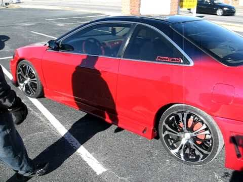 JOHN'S RESTORATION / 2... Honda Accord 2000 Black With Rims