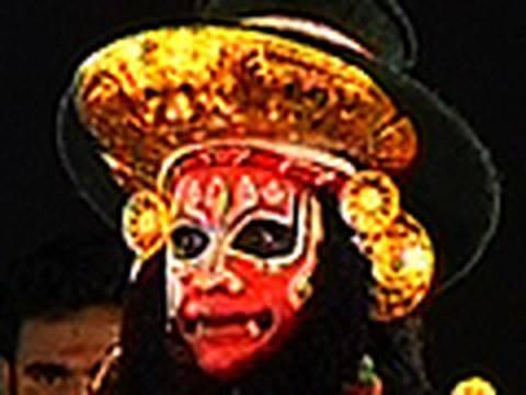 Sugriva in Balivadham Kutiyattam