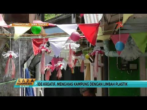 Ide Kreatif Hias Kampung Dengan Limbah Plastik Youtube