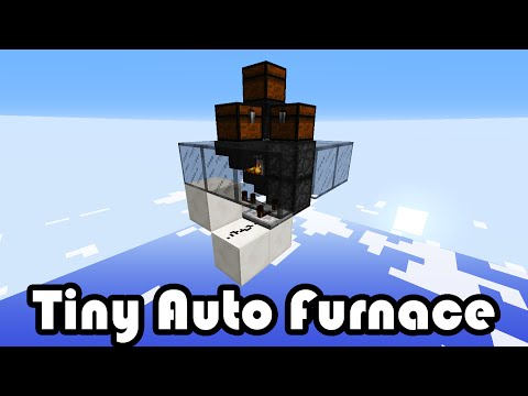 Mavcast Minecraft Automatic Furnace Room Tutorial