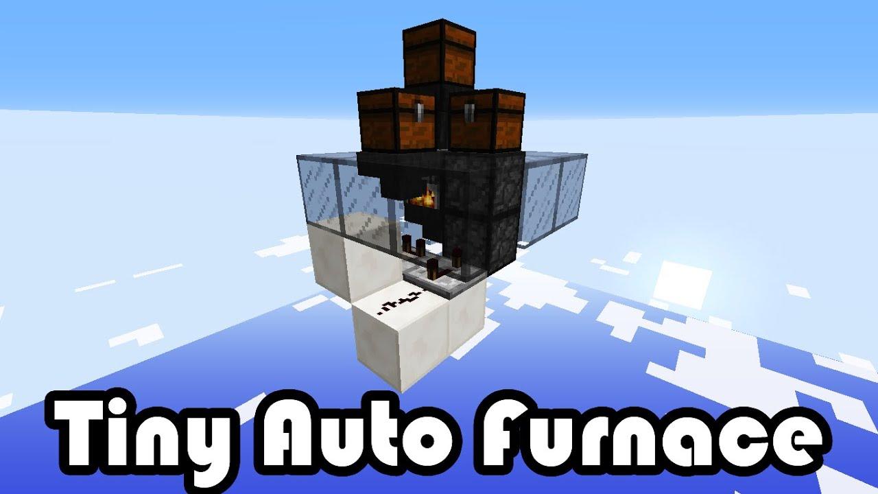 Tiny Auto Furnace - Minecraft 1.8 - YouTube