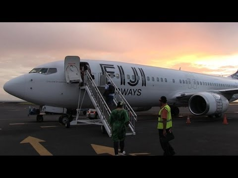 Fiji Airways B737 Takeoff Samoa