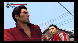 Yakuza 6 - Kiryu and Pocket Circuit Fighter Tag-Team Heat Action!