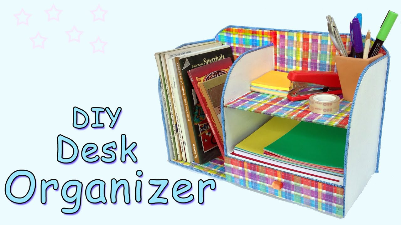 Diy desk organizer ana diy crafts youtube solutioingenieria Images