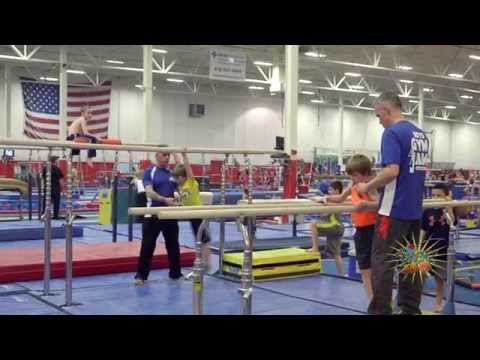 We work with a full spectrum of boys ranging from special needs to the super star athletes. We have a top notch fully equipped boys gymnastic facility. Each class is taught right in the center of the exciting action. The boys get to see all levels from Beginners to Elite athletes. Through the art of gymnastics we have fun building confidence and muscles!  In Boys Gym Jam we believe that every child can develop a positive attitude towards physical fitness. Every Gym Jammer learns at his own rate without the peer pressure that is often involved with many other team sports. We create a learning environment where the use of encouragement and positive reinforcement helps boys overcome their fears, building confidence, character and self-esteem. We believe that learning should be fun and rewarding and we gauge this by the smiles on their faces. In Gym Jam, we want boys to experience the satisfaction that comes with facing new challenges head-on and the joy one feels when they reach their goal!