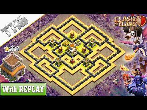 NEW COC TH8 Best Base (WAR/HYBRID) 2019 With REPLAY !! TH8 Base Anti Dragons – Clash Of Clans