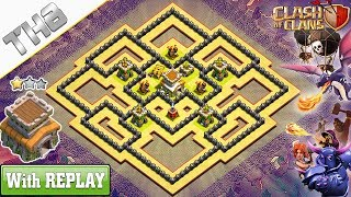 Download lagu NEW COC TH8 best base (WAR/HYBRID) 2019 with REPLAY !! TH8 Base Anti Dragons – Clash of Clans