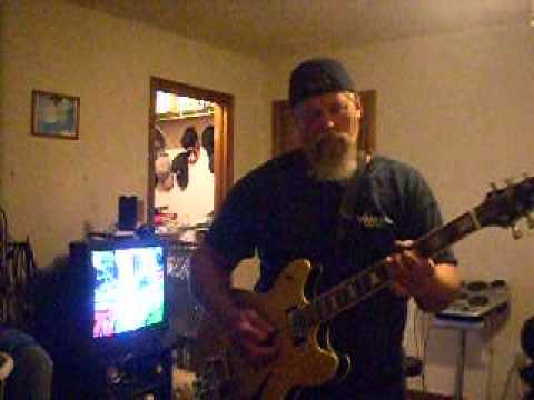 Buddy Young goofing on the guitar
