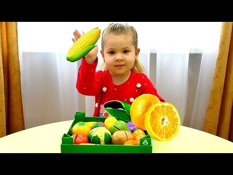 Diana teaches the names of fruits and vegetables Video for toddlers