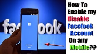 Disable Facebook Account enable throw mobile