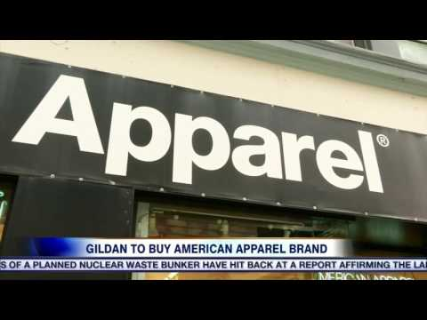 Video: Canadian company Gildan Activewear buys the American Apparel brand.