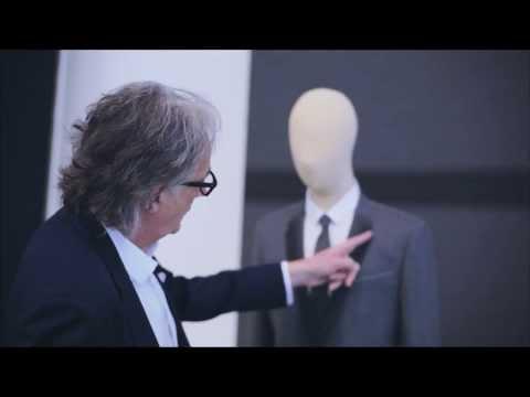 Designer Paul Smith working with Merino wool