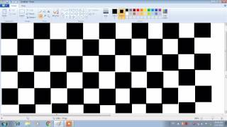 Simple Chess Board drawing  in paint