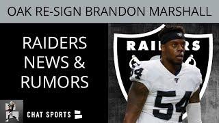 Raiders Sign Brandon Marshall! Raiders News On Rodney Hudson Injury, Will Compton & Erik Magnuson