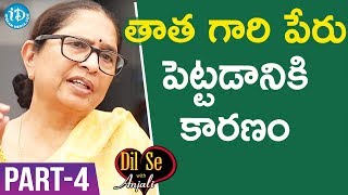 Child Rights Activist Padma Shri Awardee Dr. Shantha Sinha Interview - Part #4 | Dil Se With Anjali