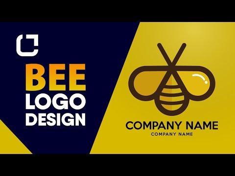 Bee Logo Design - How to design logo (Illustrator tutorial) thumbnail
