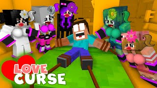Monster School : Love Curse - Minecraft Animation