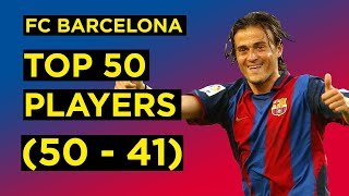 The barcelona podcast counts down top 50 players in fc history, starting with 50-41. suggested reading: https://barcablog.com/suggested-reading...