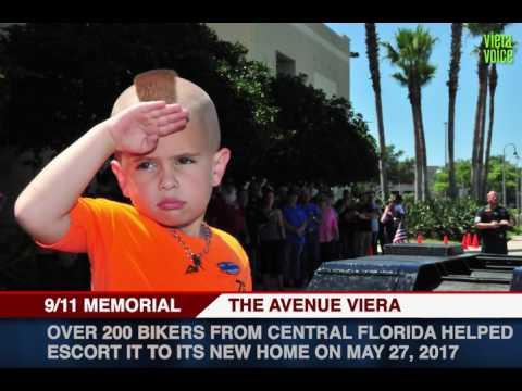 9/11 Memorial Beam arrives at Avenue Viera, FL