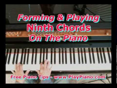 Piano ninth chords piano : How To Form And Play Ninth Chords On The Piano - YouTube