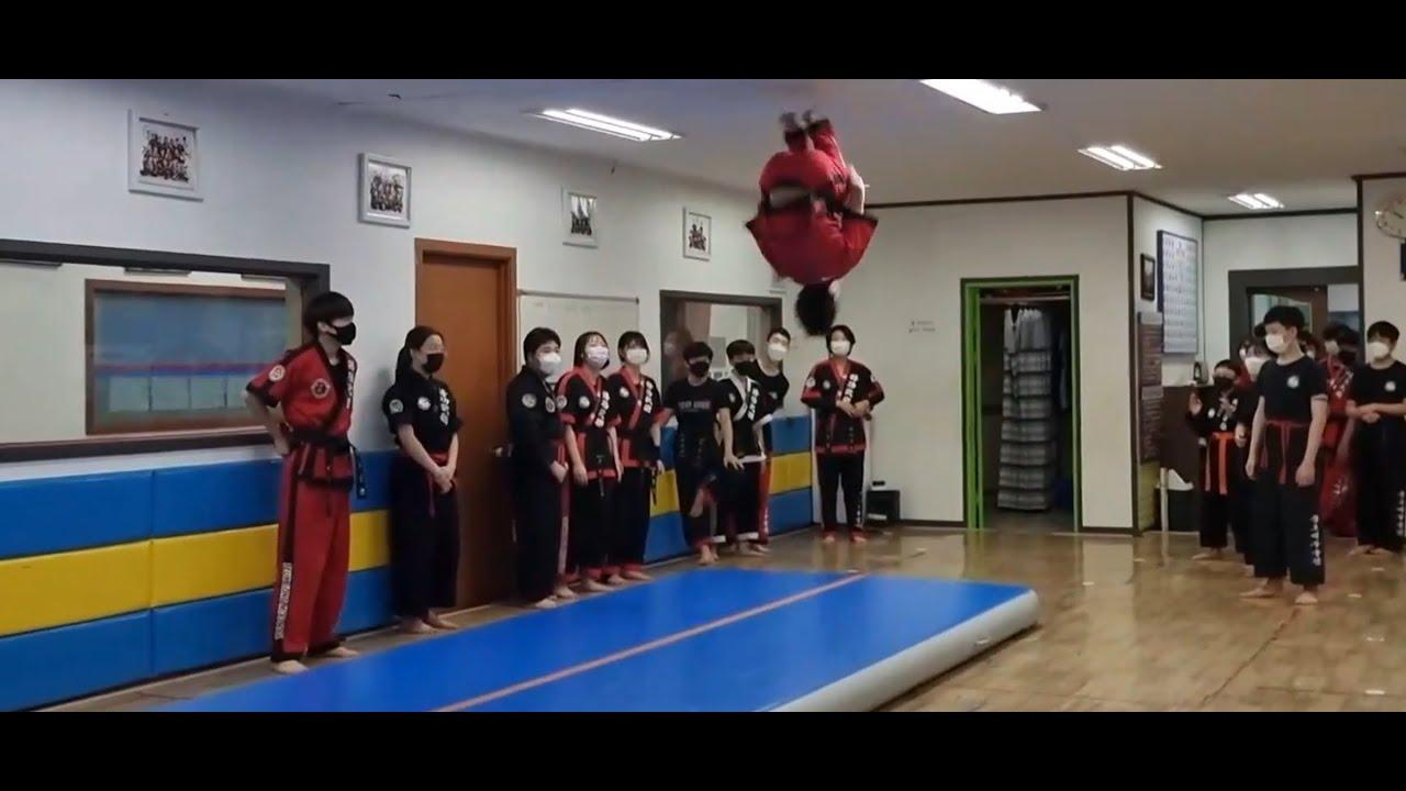 즐거운 체조 특기심사!! 즐기면서 운동해요~^^(특공무술)Korea's Fun Martial Arts (Tumbling) Test Time!