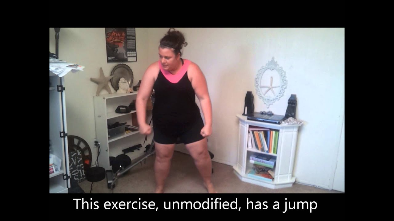 Plus Size Insanity Workout Modify Day 1 weightloss - YouTube