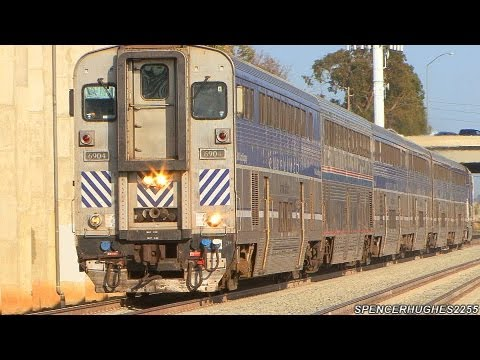 Thumbnail: HIGH SPEED Amtrak & Metrolink Trains @ Sand Canyon Ave (June 5th, 2013)