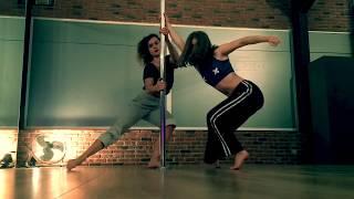 Pole Dance - Pole Flow -  improvisation by Nana Lou & Little Milla