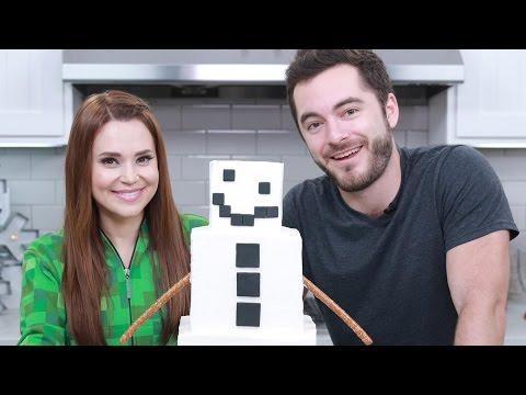 Generate MINECRAFT SHORN SNOW GOLEM CAKE ft CaptainSparklez! - NERDY NUMMIES Snapshots