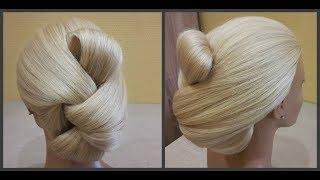 Прически.Быстрая прическа.Легко сделать самой себе.quick and easy hairstyle.easy to make by yourself