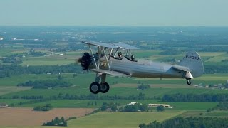 Pilotage Skill Test - NO modern Navigation tools - Stearman - cross country Flying to AirShow