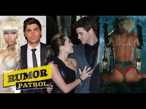 Zac Efron Affair with Nicki Minaj!? Miley Manipulated Liam!? Rihanna Pour It Up Video Too Sexual!?