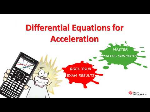 Differential Equations with Acceleration and TI Nspire for Specialist Mathematics thumbnail