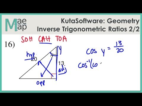 KutaSoftware: Geometry- Inverse Trigonometric Ratios Part 2 ...
