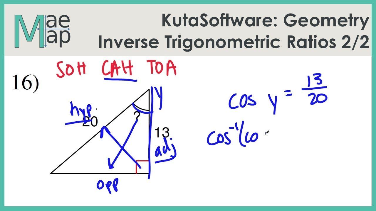 KutaSoftware: Geometry- Inverse Trigonometric Ratios Part 2 - YouTube