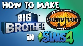 How To Make Big Brother And Survivor In The Sims 4