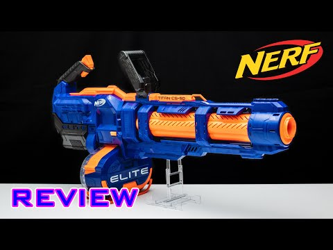 [REVIEW] Nerf Elite Titan CS-50 | NERF MINIGUN!!