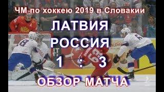 Обзор матча Латвия Россия 1 3 ЧМ 2019 Братислава Словакия голы столкновения опасные моменты