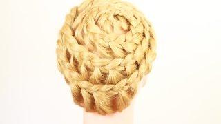 """Прическа улитка. """"Basket style"""" Hairstyle"""