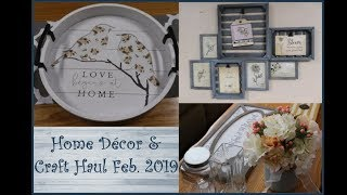 Home Decor, Thrift Store Finds & Craft Haul Feb. 2019 ~ 11 Different Stores