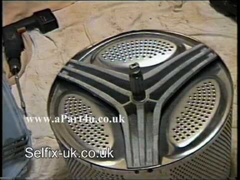 How to Fit, Change & Replace Creda Washing Machine Drum Support or Spider  YouTube