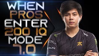 DOTA 2 - WHEN PROS ENTER 200 IQ MODE 7.0! (Smartest Plays & Next Level Moves By Pros)