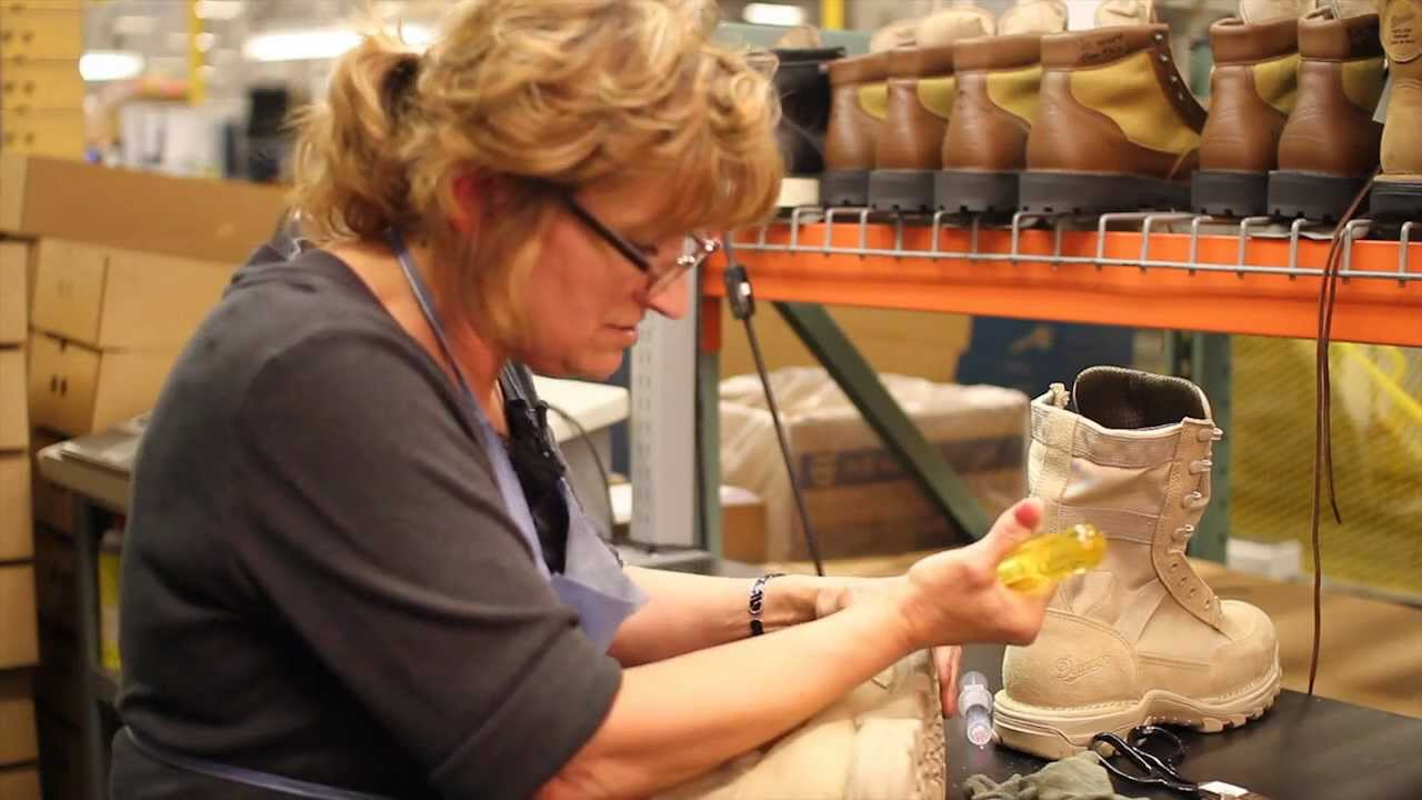 Danner Factory Tour - Building the Rivot - YouTube