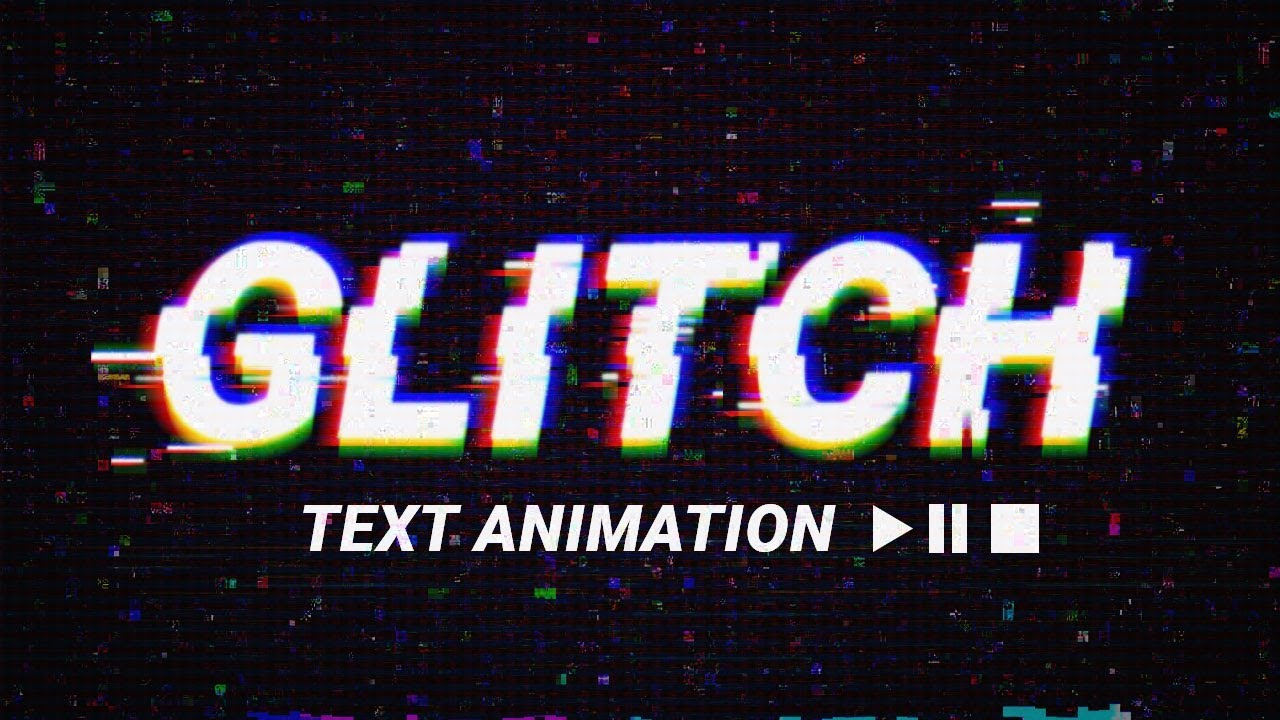 How To Get An Animated Wallpaper Windows 10 Glitch Text Animation Effect Psd Template Photoshop
