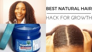 FAST HEALTHY HAIR GROWTH WITH VICKS VAPOR RUB TO STIMULATE GROWTH DEMO + REVIEW